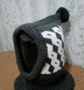 Шапка-шлем,зимняя