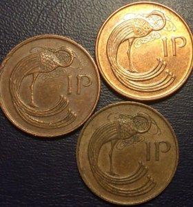 Монеты Ирландии, 1 пенни