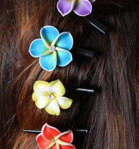 Гавайские заколки для волос