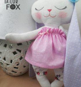 Мягкая игрушка - сплюшка зайка Зефирка