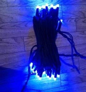 Электрогирлянды уличные синий и красный