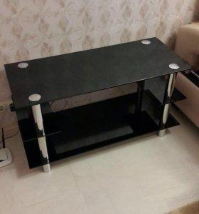 Столик стеклянный/ тумба под телевизор