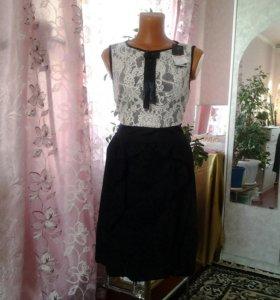 Платье повседневной,можно для школы,офиса.