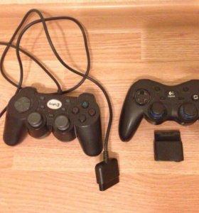 Playstation 2+ джойстики+ игры