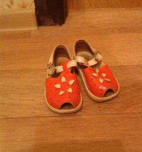 Сандали оранжевые размер 13.5