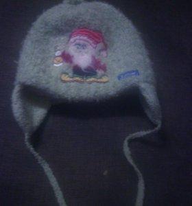 Теплая шапка, вязаная