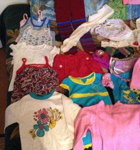 Пакет вещей на девочку от 3 до 4 лет. Вещей много!
