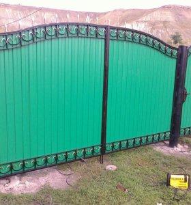 Кованые ворота, заборы, навесы, входные группы.