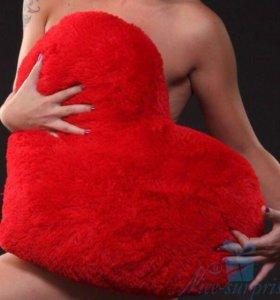 Пушистые Подушки Сердце