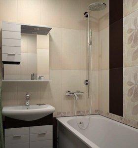 Ремонт ванной с материалом