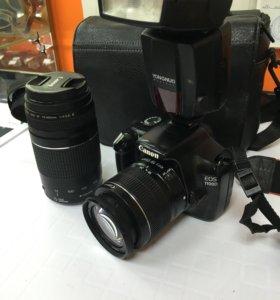 Фотик canon 1100d  вспышкой и оптика 75/300