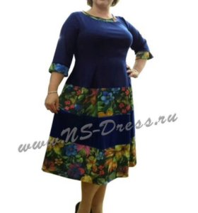 Платье 07-058 синий