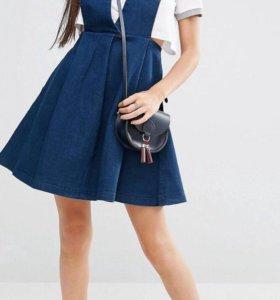 Джинсовый сарафан - платье