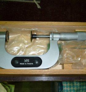 Микрометр гладкий 50-75 мм, Польша, Новый