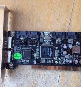 Контроллер 6 x SATA Silicon Image Sil3114