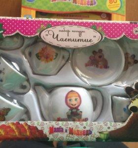 """Набор посуды """"чаепитие"""" Маша и медведь"""