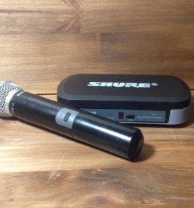 Радиомикрофон. Shure sm58 с базой Shure pg4
