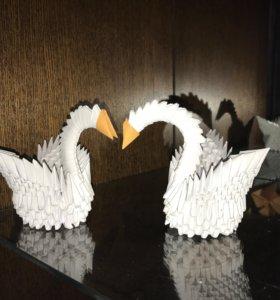 Модульные лебеди котята