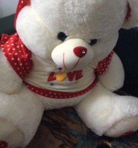 Подарок на День рожд.Игрушка, новая,медведь 90длин