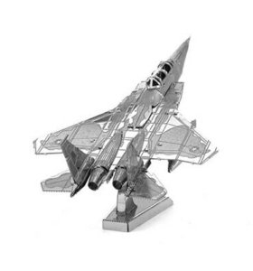 Сборная металлическая 3D модель-самолет F15