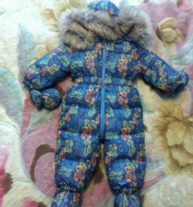 Пуховой комбенизон зимний детский