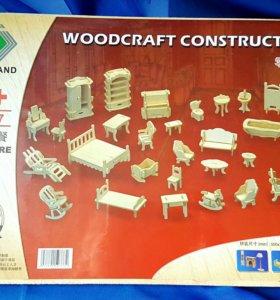 Мебель для кукол деревянная