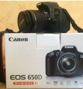 Зеркальный фотоаппарат Canon EOS 650D + объективы