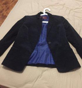 Пиджак вельветовый синий ELIS