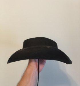 Шляпа ковбойская замшевая.