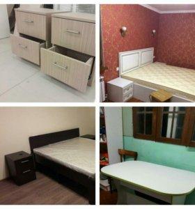 Тумбочки, столы, кровати, ресепшены