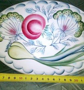 """Декоративная тарелка в форме  рыбы """" Укропчик"""""""