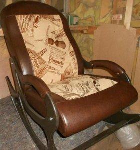 Кресло качалка Люкс 8835-2 + экокожа