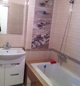 Укладка кафеля , ремонт ванны и туалета
