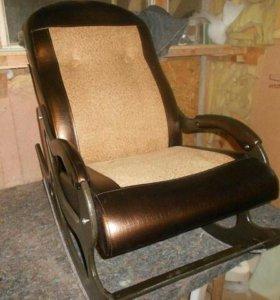 Кресло качалка Люкс 67 + экокожа 101