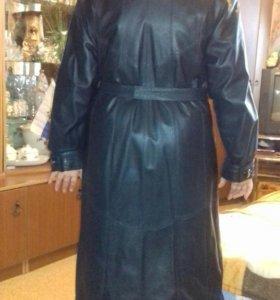 Пальто коженное