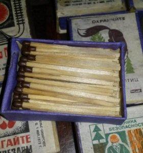 Спички СССР в деревянных коробках