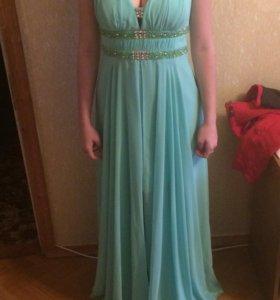 Платье вечернее, цвет - мята