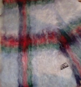 Махеровый новый шарф, натуральный