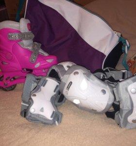 Ролики, защита и сумка. (Новые)