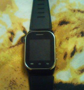 Новые Часы-телефон,черные.