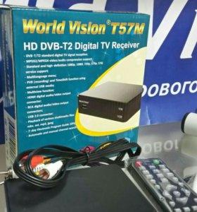 Цифровая'эфирная приставка World Vision T57M