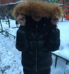 Куртка -пуховик (эко-кожа)