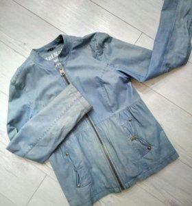 Куртка натуральная кожа  NafNaf 36 р-р