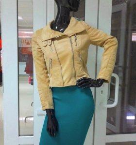 Велюровая куртка-косуха