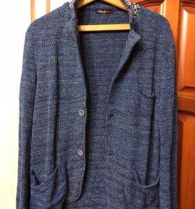 Мужской стильный вязаный пиджак