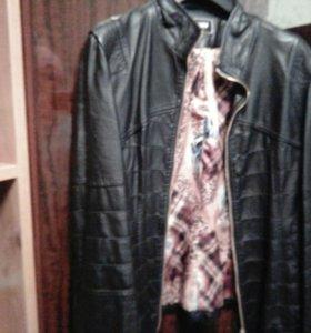 Кожанная куртка xL