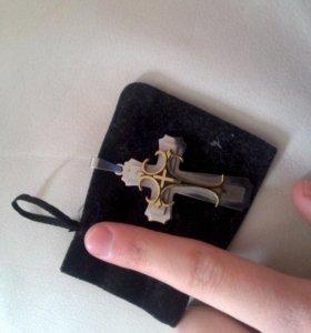 Мужская подвеска крест