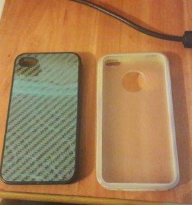 Два чехла на айфон4s