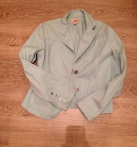 Пиджак голубой джинсовый