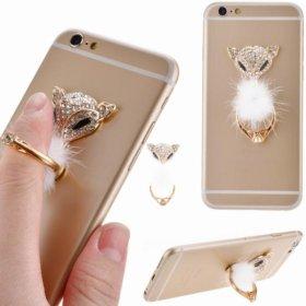 Кольцо держатель смартфона планшета лиса
